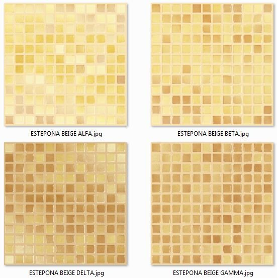 Estepona Beige (Alfa, Beta, Gamma, Delta) byszczca MOZAIKA 30 x 30 - pytki uniwersalne
