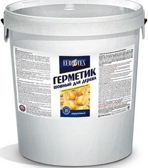 Eurotex предназначен для герметизации межвенцовых швов и щелей снаружи и внутри рубленых домов