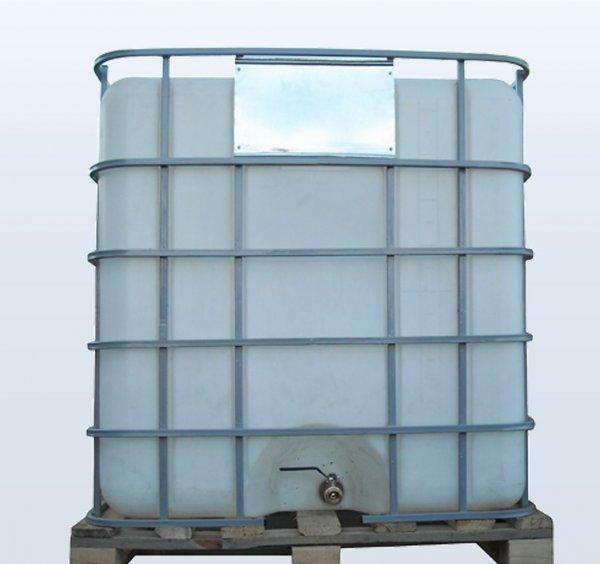 Фото  1 Емкость 1000 литров бак, бочка Еврокуб для транспортировки воды, КАС перевозки в решетке с металлическим краном 1985565
