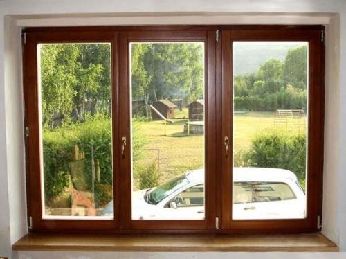 Евроокно-окно из двух или трех секций. Секция открывается горизонтально и вертикально.