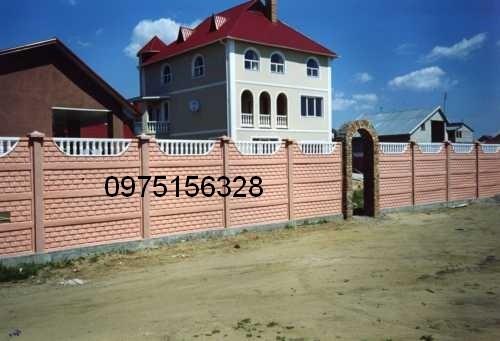 Еврозабор в Одессе цена 88 гр м. кв Евро забор железобетонный изготавливается из бетона ГОСТ СССР 300й бетон .