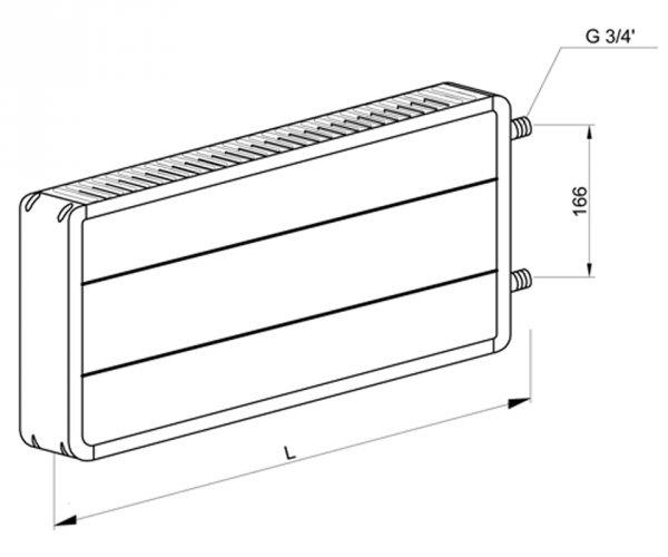 Фото 5 Стальной панельный радиатор MaxiTerm КСМ-1-500 от 500 мм до 2000 мм 330830