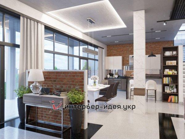 Фото 4 Дизайн кухни-студии в стиле лофт 330208