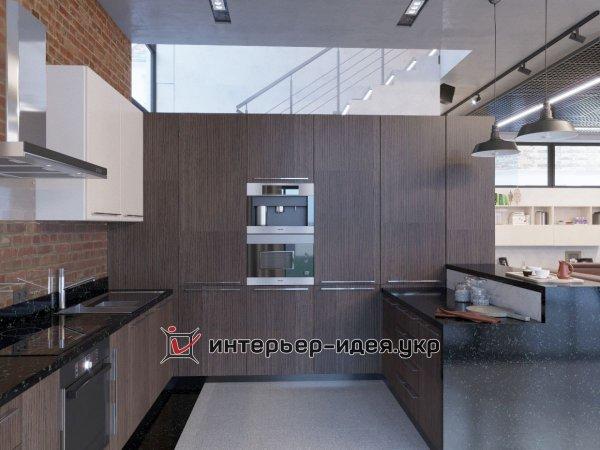 Фото 3 Дизайн кухни-студии в стиле лофт 330208