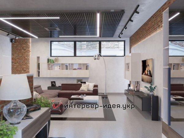 Фото 5 Дизайн кухни-студии в стиле лофт 330208