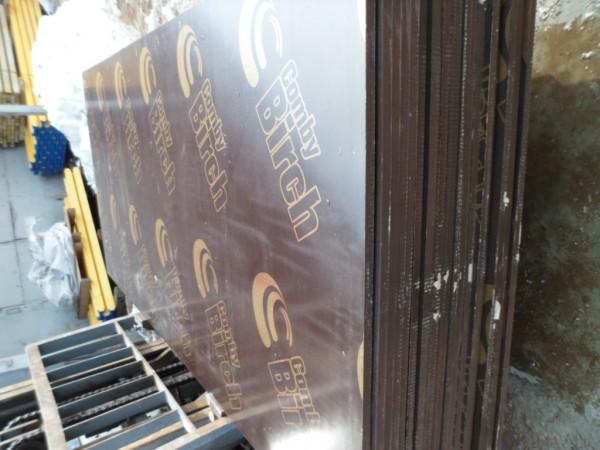 Фанера комбинированая опалубочная, ламинированая 1250х2500х21 мм, тополь-береза