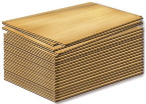фанера повышенной влагостойкости ФСФ (Россия) , формат: - 2500 х 1250 х 6,5, 9,5,12,15,18,21,30 мм.