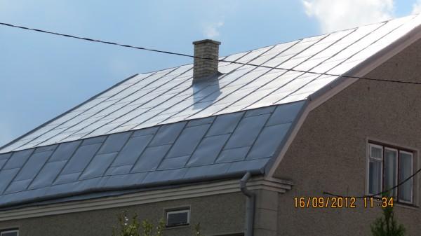 Фарбування дахів, ринв, чистка даху від іржі, можлива обровка антикорозійними засобами.