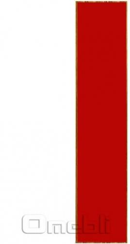 Фасад UK-32 ДСП глянец красный  венге A10363