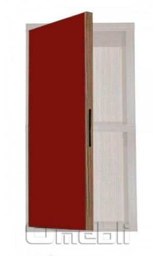 Фасад UK-34 ДСП глянец красный  венге A10351