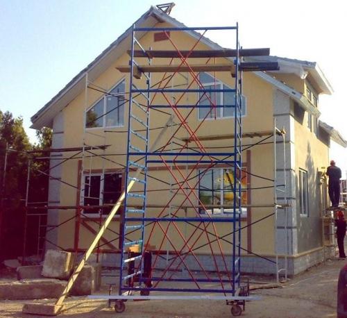 Фасады, ремонт фасадов, шпаклевка фасадов, покраска фасадов