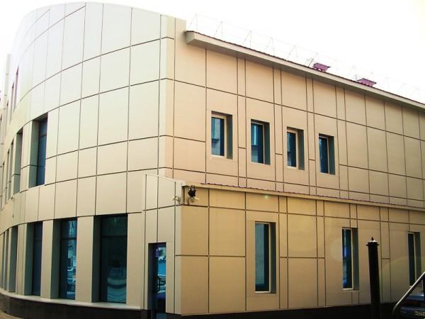 Фасады вентилируемые для торговых центров, мойки, СТО, Офисов
