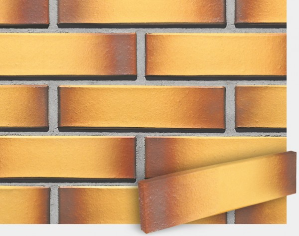 Фасадная клинкерная плитка CRH(Польша). Модель:Sahara Ton