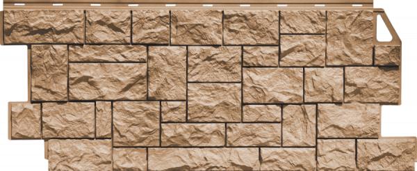Фасадная панель Fineber Дикий камень Терракотовый 1117*463 мм. Сайдинг