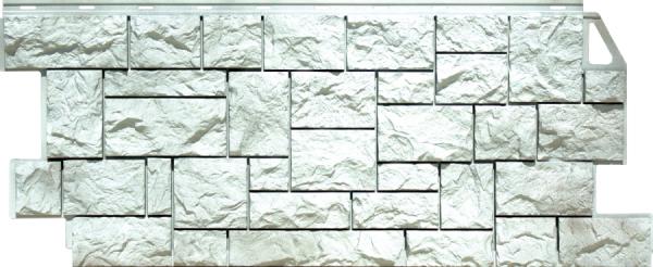Фасадная панель Fineber Дикий камень Жемчуг 1117*463 мм. Сайдинг