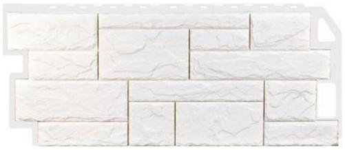 Фасадная панель Fineber Камень Белый 1137*470 мм. Сайдинг