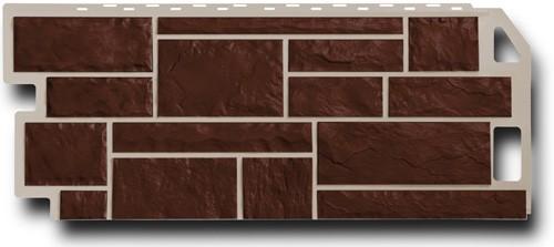 Фасадная панель Fineber Камень Коричневый 1137*470 мм. Сайдинг