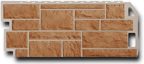 Фасадная панель Fineber Камень Терракотовый 1137*470 мм. Сайдинг