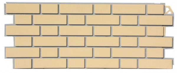 Фасадная панель Fineber Кирпич Желтый 1130*463 мм. Сайдинг
