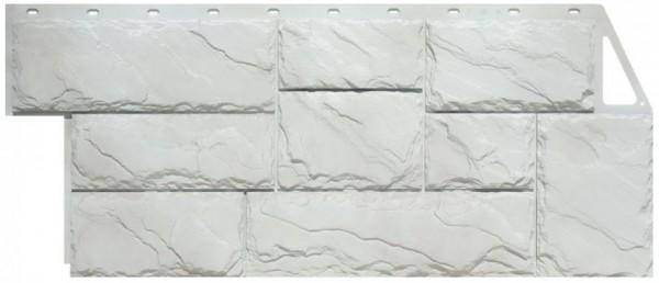 Фасадная панель Fineber Крупный камень Мелованный белый 1080*452 мм. Сайдинг