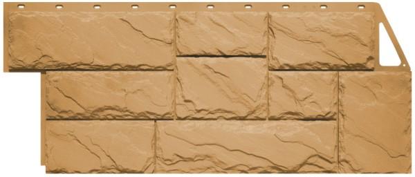 Фасадная панель Fineber Крупный камень Песочный 1080*452 мм. Сайдинг