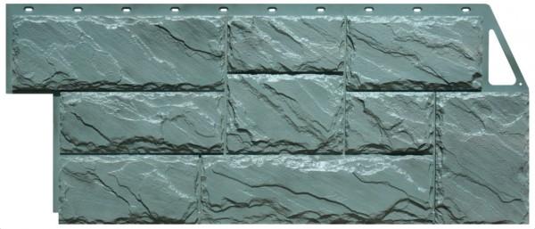 Фасадная панель Fineber Крупный камень Зеленый 1080*452 мм. Сайдинг
