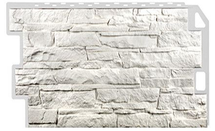 Фасадная панель Fineber Скала Белый 1094*459 мм. Сайдинг