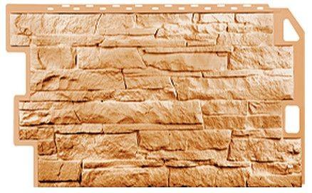 Фасадная панель Fineber Скала Бежевый 1094*459 мм. Сайдинг