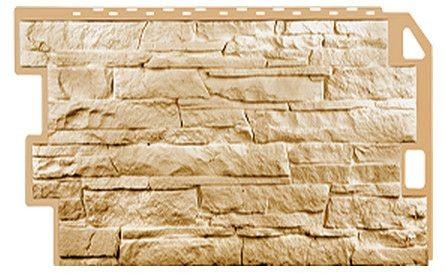 Фасадная панель Fineber Скала Песочный 1094*459 мм. Сайдинг