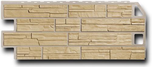 Фасадная панель Fineber Сланец Песочный 1137*470 мм. Сайдинг