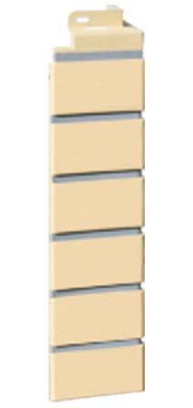 Фасадная панель Fineber Угол Кирпич Желтый 1130*463 мм. Сайдинг