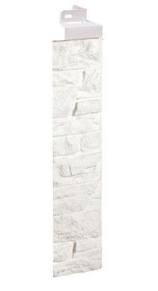 Фасадная панель Fineber Угол Скала Белый 471*145 мм. Сайдинг