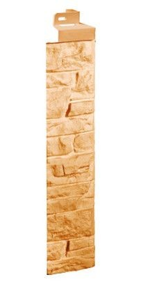 Фасадная панель Fineber Угол Скала Бежевый 471*145 мм. Сайдинг