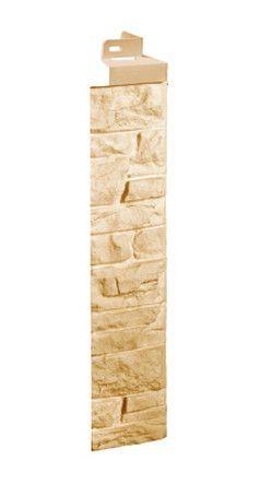 Фасадная панель Fineber Угол Скала Песочный 471*145 мм. Сайдинг