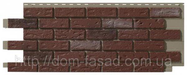 Фото  1 Фасадная панель Кирпич Old red blend 1759122