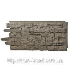 Фото  1 Фасадная панель Рваный камень Smoke Gray 1756461