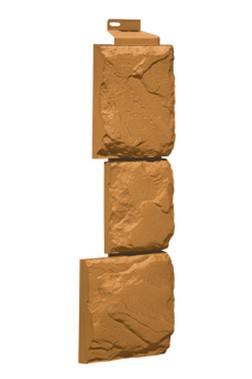 Фасадная панель Угол Дикий камень Песочный 1117*463 мм. Сайдинг