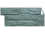 Фасадная панель Угол Дикий камень Серо-зеленый 1117*463 мм. Сайдинг