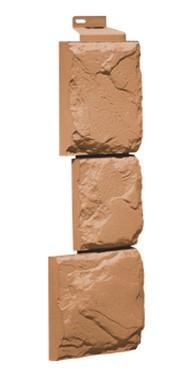 Фасадная панель Угол Дикий камень Терракотовый 1117*463 мм. Сайдинг