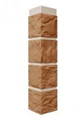 Фасадная панель Угол Камень Терракотовый 470*115 мм. Сайдинг