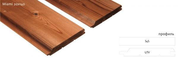 Фасадная термоcосна UTV, S4S самый популярный материал за счет цены и качества. размер 20ммх140мм