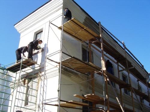Фасадные работы - ремонт, отделка, облицовка фасада дома.