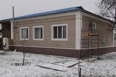 Фасадные работы в Кировограде. Утепление и отделка термопанелями.