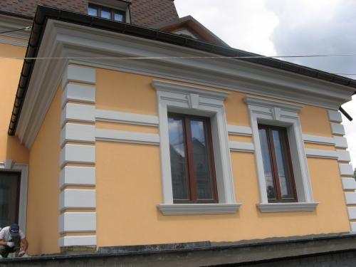 Фасадный декор (карнизы, колонны, обрамления окон и т. д) Любые сечения и размеры.