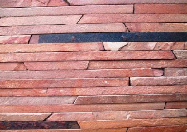 Фасадно-стеновая нарезка-лапша красная