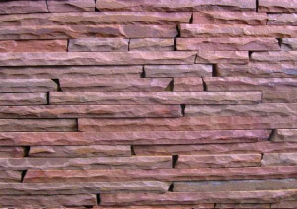 Фасадно-стеновая нарезка рустованная красная