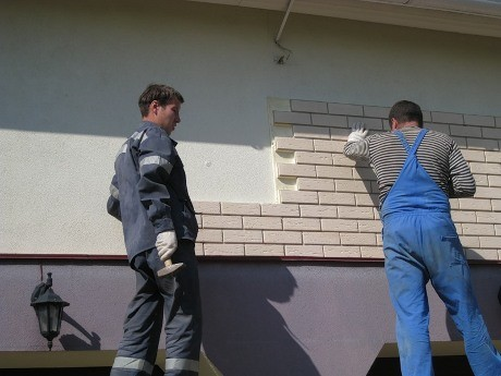 Фасадное утепление термопанелями с клинкерной плиткой в Николаеве. Н.