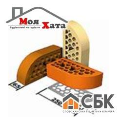 Фасонный брусок облицовочный кирпич СБК 250*65*65 ВФГ-3 светло-жёлтый