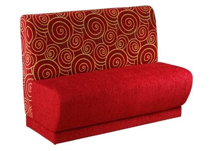 Фаст - двухместный диван. Удобный диван простой формы для столовых, кафе и баров.