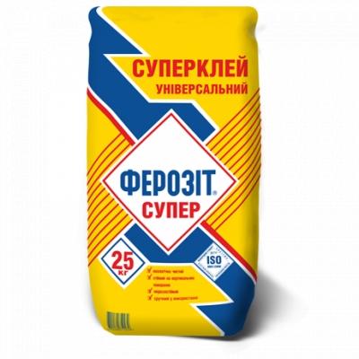 ФЕРОЗИТ СУПЕР универсальный суперклей для плитки, облицовочного камня, мозаики /25 кг